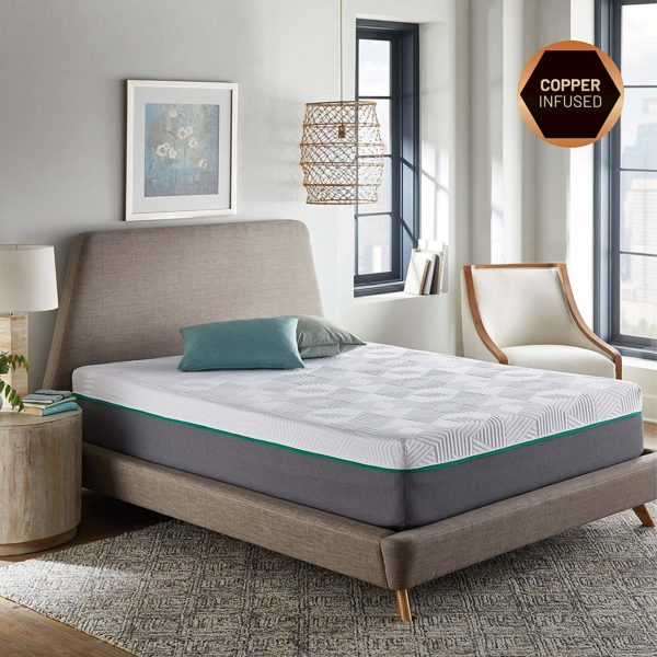 RENUE 12-Inch Memory Foam Mattress, Copper & Gel Infused Memory Foam Cool Sleep